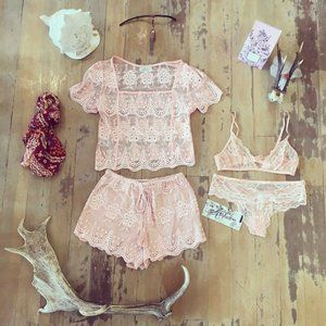 ARNHEM Arabella Lace Matching Set - Top and Shorts